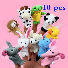 10PCS Baby Kids Educational toy Finger Cartoon Puppet Animal plush toys boy girl