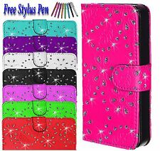 Bling Diamond Magnetic Flip Wallet PU Leather Case Cover For Apple iPhone 5 5S