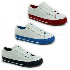 WOMENS LADIES CASUAL FLAT LACE UP CANVAS PUMPS PLIMSOLLS TRAINERS SHOES SIZE 3-8