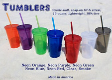 Double-Wall Acrylic Tumblers with Straws16 oz. Colors Available $5.99 FREE S/H