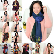 Warm Winter Fashion Womens Long Cashmere Wool Scarf Large Shawl Plaid Hip Scarfs