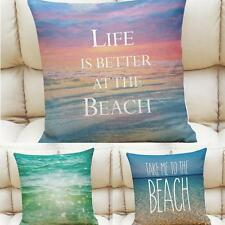 Cotton Linen Leaning Cushion Throw Pillow Cover Pillowslip Case Home Decoration