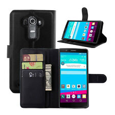 New Luxury PU Leather Card Wallet Stand Flip Bracket Case Cover Skins For LG G4