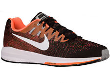 NEW MENS NIKE AIR ZOOM STRUCTURE 20 RUNNING SHOES TRAINERS BLACK / TOTAL ORANGE