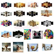 Unframed HD Canvas Prints Home Decor Wall Art Animal Style Picture Painting 5PCS