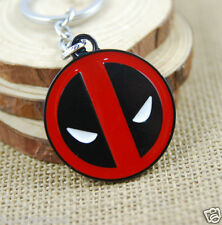 Fashion Marvel Comics Deadpool Logo Metal Enamel Metal Keychain Keyring Gift #1