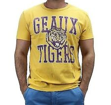 College Vault Men's NCAA Louisiana State University LSU Tigers T-Shirt Gold