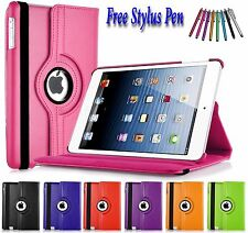 PU Leather 360 Rotating Smart Folding Stand Case Cover For Various Apple iPad's