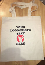 Personalised Custom shopping  grocery Soft Tote Bag with Your Photo logo Text