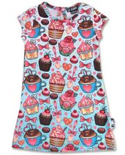 Six Bunnies Kids Cupcake Dress Retro Vintage Rockabilly Cute Girls Kawaii Tunic