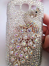 For Mobile Phone Bling Fashion AB Peacock Diamonds Rhinestones Hard Cover Case