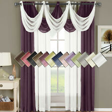 "Abri Grommet Crushed Sheer Window  50x63"" Panel (Single) OR Waterfall Valaces"