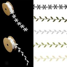 Roll of Snowflake/Leaf Vine Ribbon Trim Wedding Party Christmas Decors
