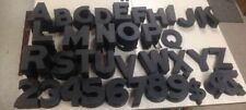 "VINTAGE WAGNER 6"" PLASTIC THEATER MOVIE MARQUEE LETTERS NUMBERS PIECES 6 1/4"""