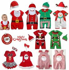 Baby Toddler Boy Girl First Christmas Xmas Party Outfit Dress Costume Clothes