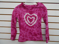 Girls Addressed $26 Pink Tie Dyed Long Sleeved T-Shirt w/ Heart Size 5 - 6X