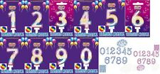 Happy Birthday Cake Number multi colour number Candle Cupcake Party  decoration