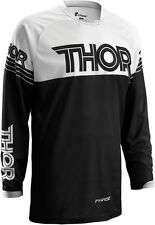 NEW Thor MX 2016 Phase Hyperion White Black MTB BMX Dirt Bike Motocross Jersey