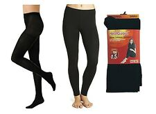 Thermal Thick Tights S/M/L HeatGuard Black Ladies Womens Girls