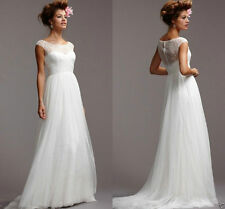 2016 New lace Tulle Wedding Dress Bridal Gown Custom Size 4 6 8 10 12 14 16 18++