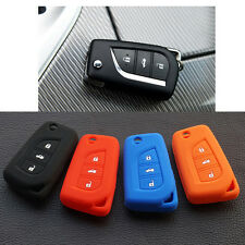 Silicone car key fob cover case for Toyota Corolla Prado Fortuner RAV4 folding