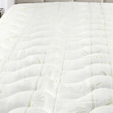 King Size Waterproof Bamboo Jacquard Mattress Pad-Super Soft & Cool To The Touch