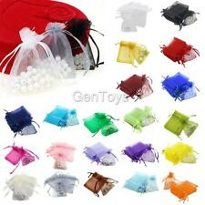 Pack/100pcs 7x9cm Luxury Organza Christmas Wedding Gift Storage Bags Pouches