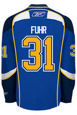 Grant Fuhr St. Louis Blues Reebok Premier Home Jersey NHL Replica