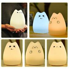 Cat-Shaped Night Light Color Changing LED Lamp Cartoon Lamp Home Room Light 1pc