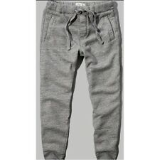 NEW ABERCROMBIE & FITCH PANTS for MEN * A&F Jogger Sweatpants Dark H Grey L/XL