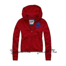 NEW ABERCROMBIE & FITCH KIDS * A&F Girls Tara Hoodie Full Zip * Red * S M L XL