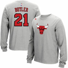 adidas Jimmy Butler Chicago Bulls Gray Name and Number Long Sleeve T-Shirt