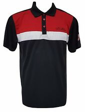 AC Milan Men's Black Polo Shirt Made by Rhinox NWT Official Licensed S,M,L,XL