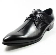 Business Men's Buckle Pointy Toe Genuine Leather Oxfords England Dress Shoes