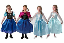 Frozen Disney Princess Elsa Anna Fancy Dress Costume Child Party Girl Outfit