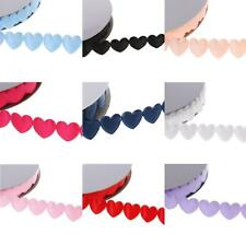 20yards Garland Heart Sewing Lace Ribbon Trims Applique Wedding Xmas Craft Decor