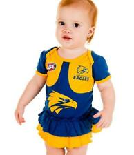 West Coast Eagles AFL Navy Girls Baby Footysuit 'Select Size' 000-1 BNWT