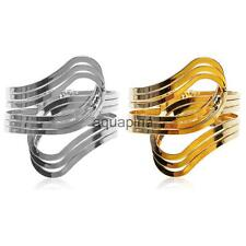 Fashion Wide Metal Bangle Open Hand Cuff Bracelet Armlet-Gold/Silver