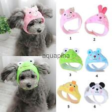 Adorable Cartoon Fleece Hat for Pet Puppy Lovely Animal Pattern Hat for Dog