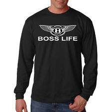 Boss Life Bentley Wings Car Auto Lifestyle Funny Long Sleeve T-Shirt Tee