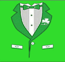 Irish Tuxedo Tux Ireland Formal But Came To Party Funny T-Shirt Tee