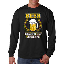 Beer Breakfast Of Champions Funny Alcohol Drinking Long Sleeve T-Shirt Tee
