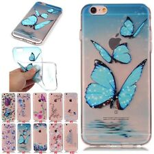 Fashion Hybrid Soft TPU Rubber Back Cover Clear Case For iPhone SE 5s 6s 7 Plus