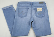 "AG Adriano Goldschmied ""The Stilt Roll-Up"" Cigarette Light Blue Jeans, Oasis"