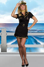 Dreamgirl Sexy Sailor Captain Military Costume Set with Dress, Hat, Belt, & Scar