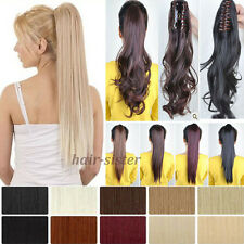 100% NEW Clip In Ponytail Pony Tail Hair Extensions Claw On Hair Piece Wavy st55