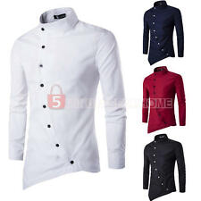 Fashion Mens Luxury Stylish Casual Long Sleeve Dress Shirts Slim Fit Shirts 2016
