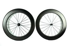 Dimple finish 25mm width 80mm Tubular carbon bicycle wheels,bike wheels