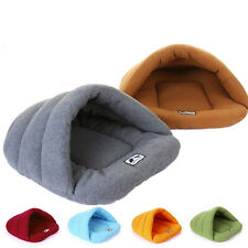 Warm Soft Cozy Cave Half Covered Pet Bed House Mat Sleeping Bag Puppy Dog Cat de