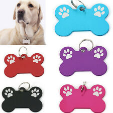Bone Dog Cat Puppy Pet Collar Tag Personalised Identity ID tag Charms Paw sale